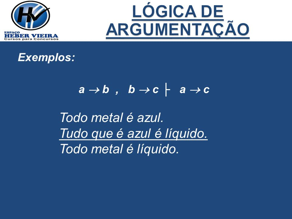 LÓGICA DE ARGUMENTAÇÃO