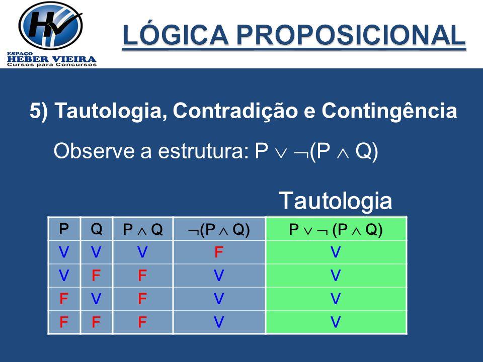 LÓGICA PROPOSICIONAL Tautologia