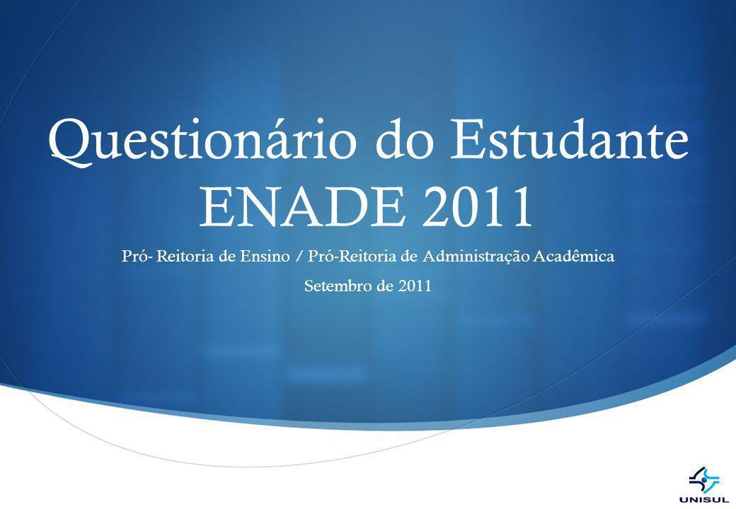Questionário do Estudante ENADE 2011