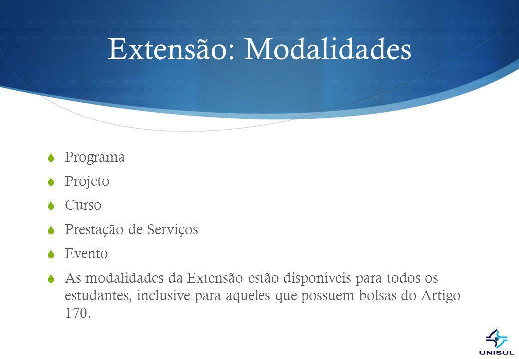 Extensão: Modalidades
