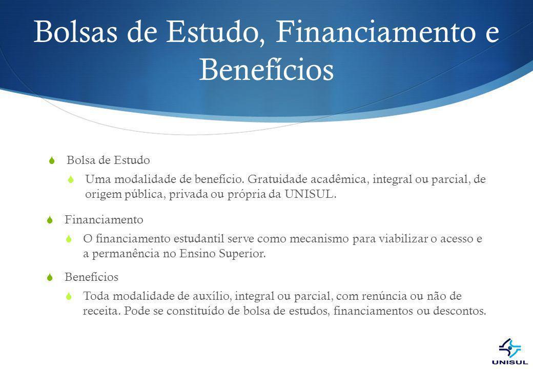 Bolsas de Estudo, Financiamento e Benefícios