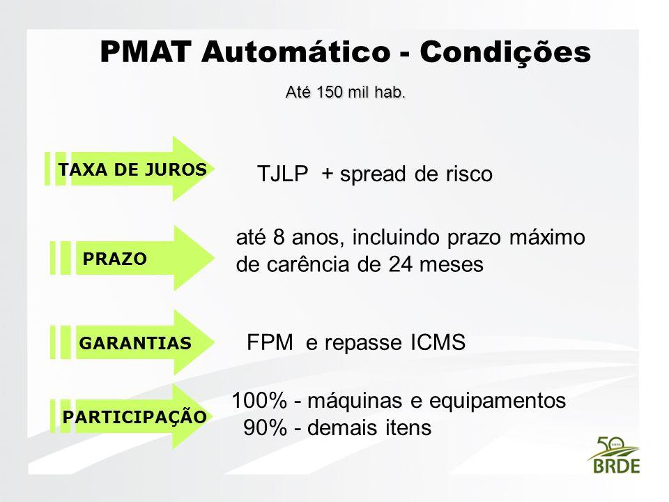 PMAT Automático - Condições