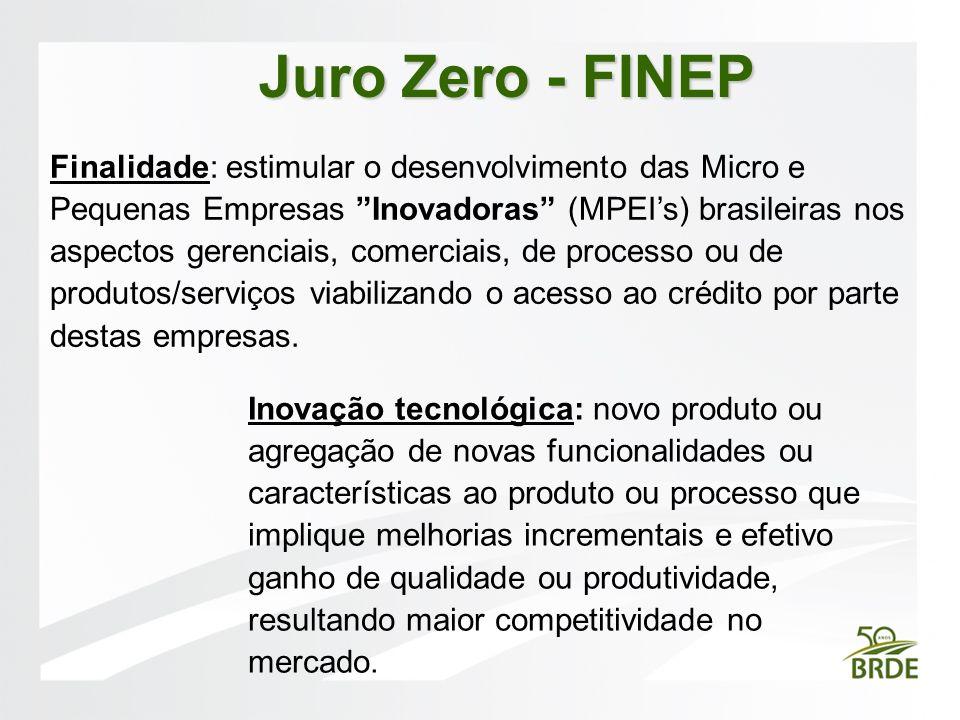 Juro Zero - FINEP