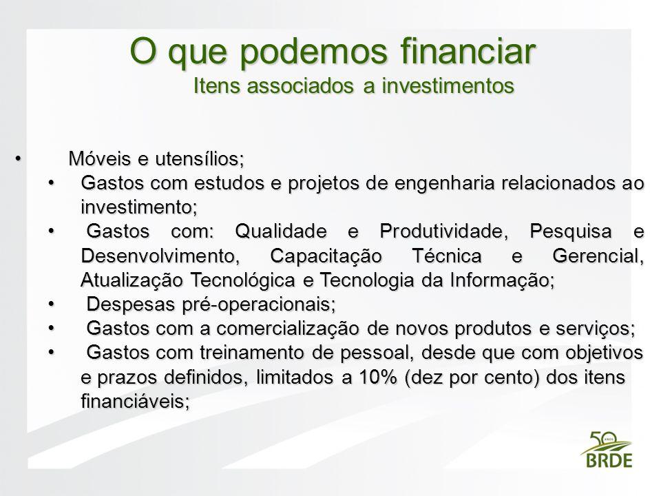 Itens associados a investimentos