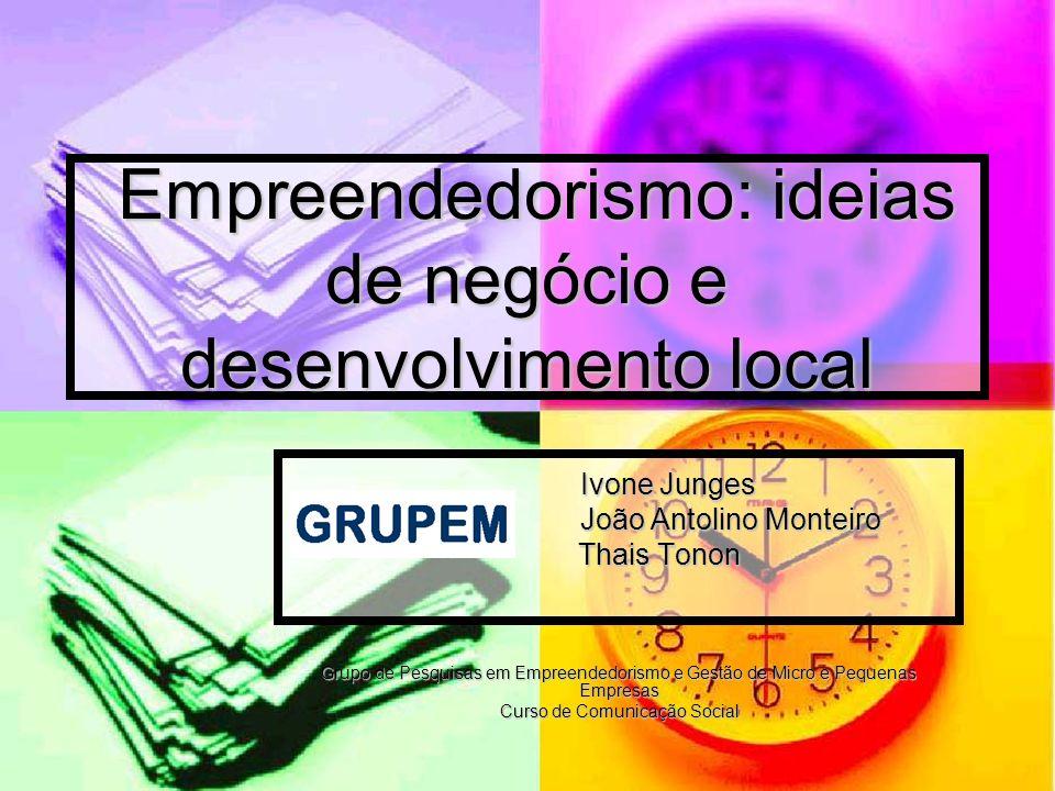 Empreendedorismo: ideias de negócio e desenvolvimento local