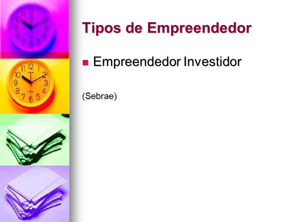 Tipos de Empreendedor Empreendedor Investidor (Sebrae)