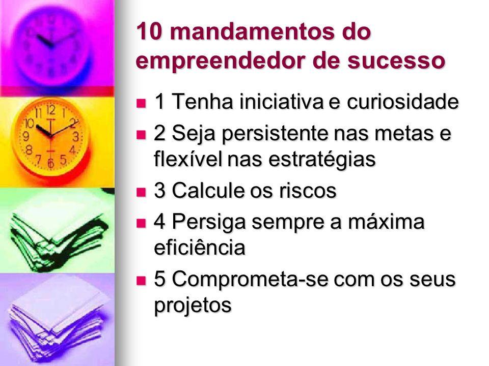 10 mandamentos do empreendedor de sucesso