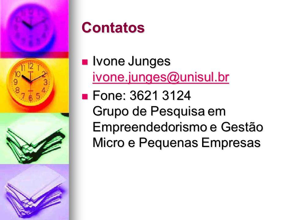 Contatos Ivone Junges ivone.junges@unisul.br