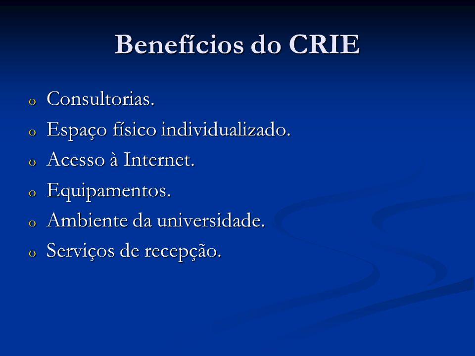 Benefícios do CRIE Consultorias. Espaço físico individualizado.