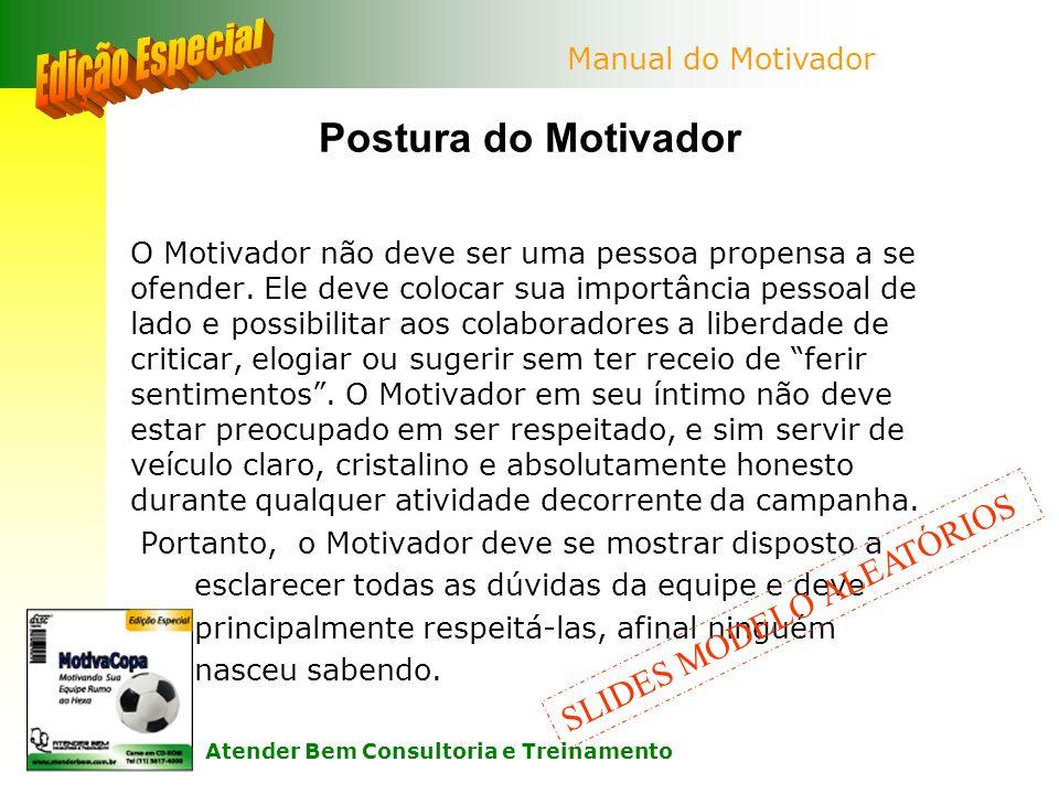 Edição Especial Postura do Motivador SLIDES MODELO ALEATÓRIOS
