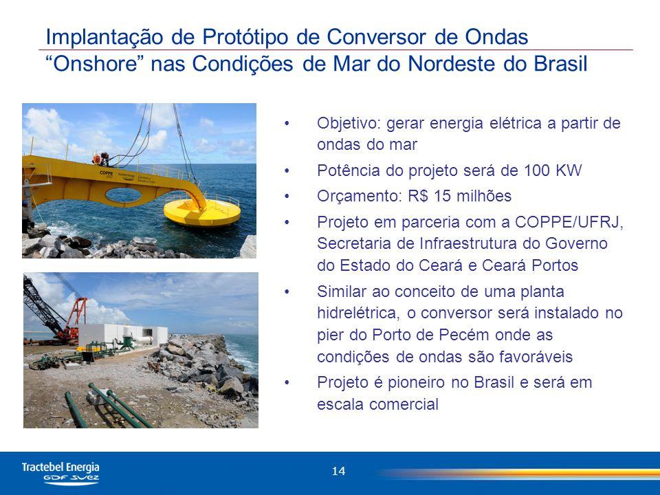 Implantação de Protótipo de Conversor de Ondas Onshore nas Condições de Mar do Nordeste do Brasil