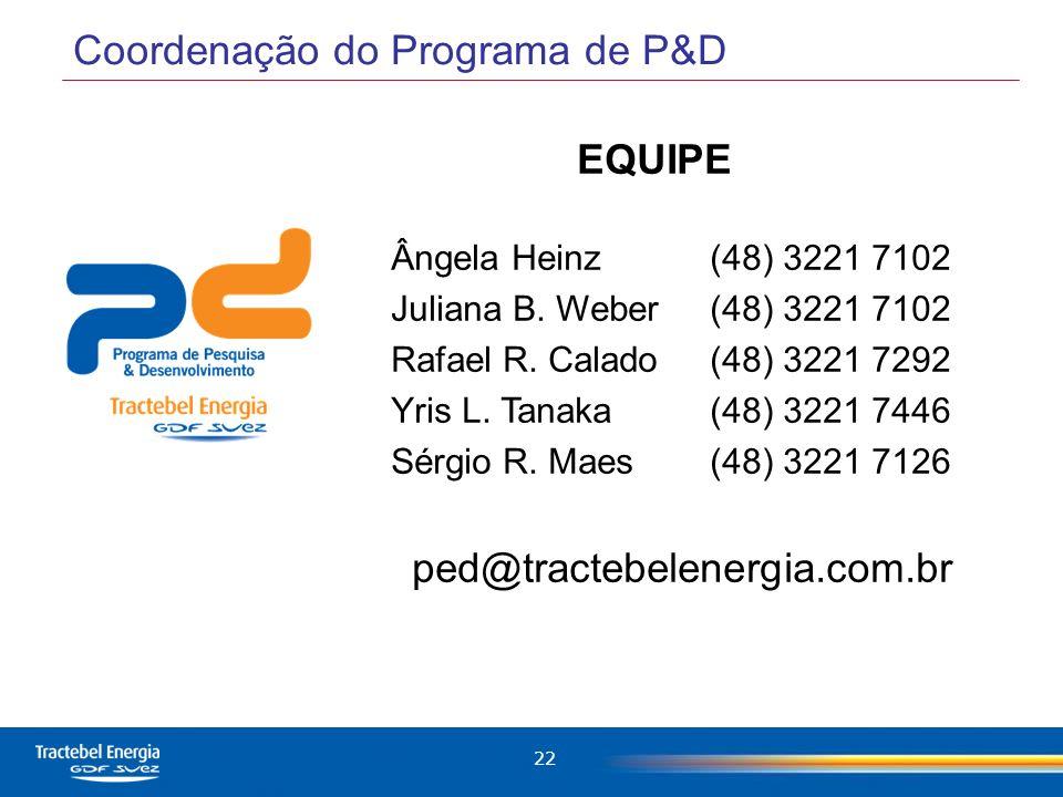 Coordenação do Programa de P&D