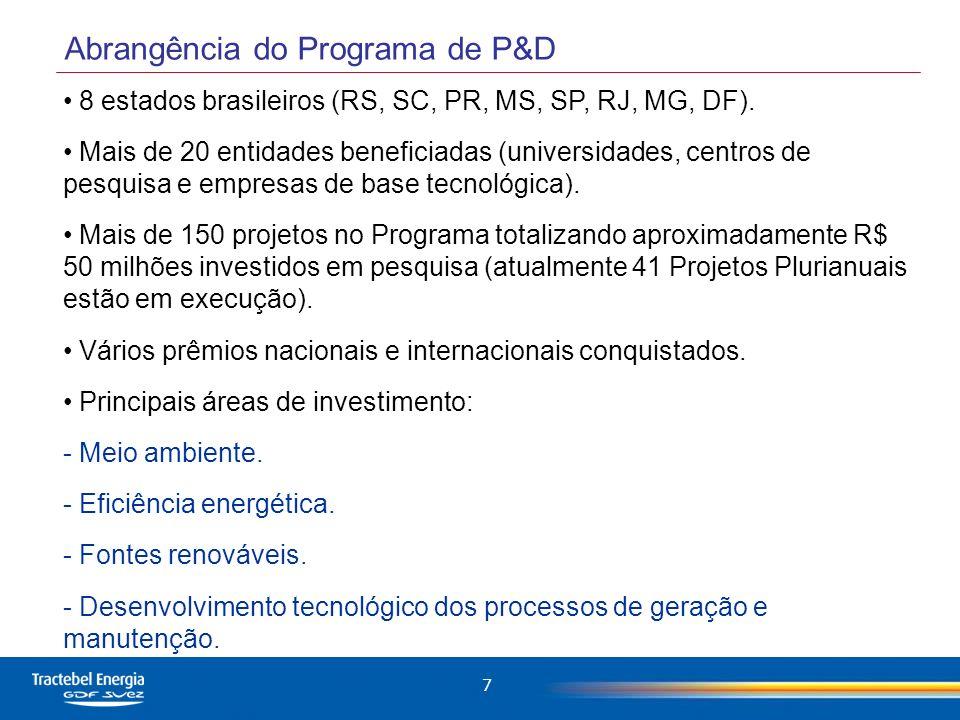 Abrangência do Programa de P&D