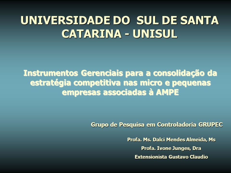 UNIVERSIDADE DO SUL DE SANTA CATARINA - UNISUL
