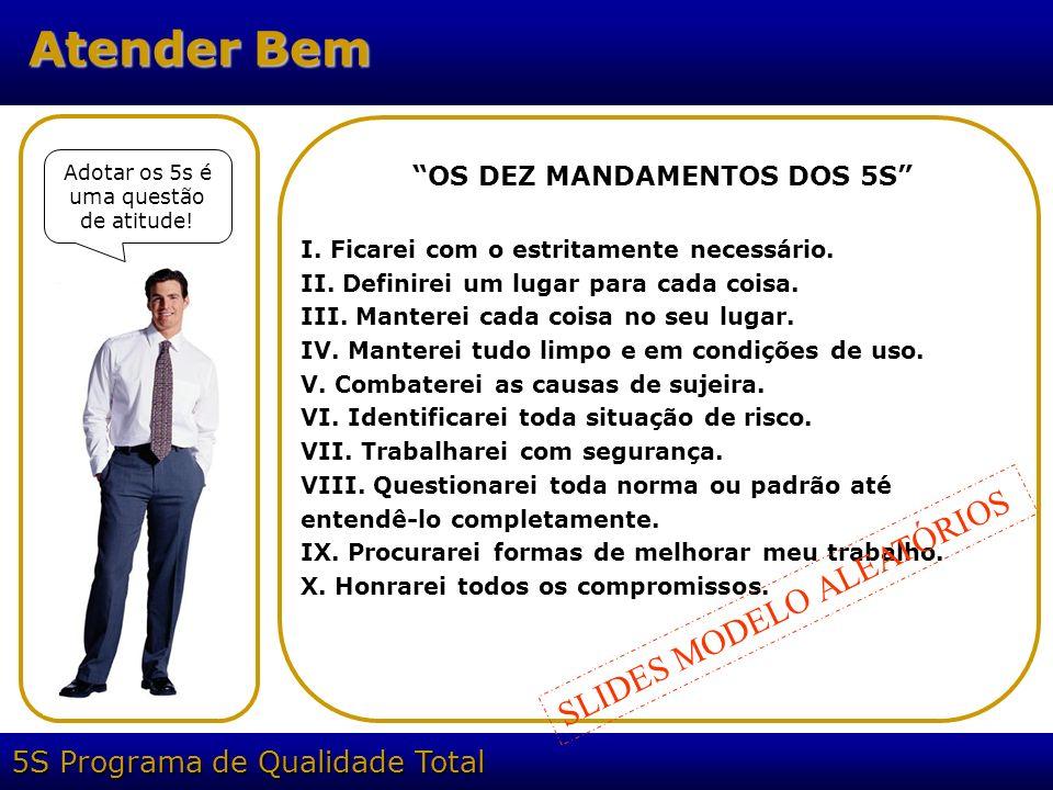 OS DEZ MANDAMENTOS DOS 5S