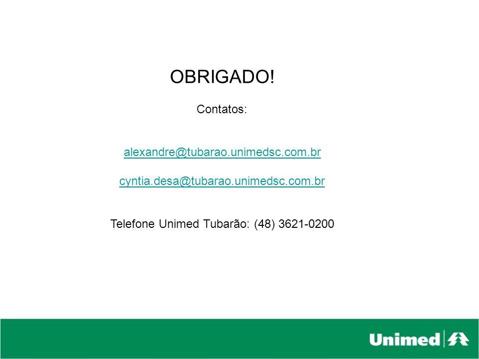 Telefone Unimed Tubarão: (48) 3621-0200