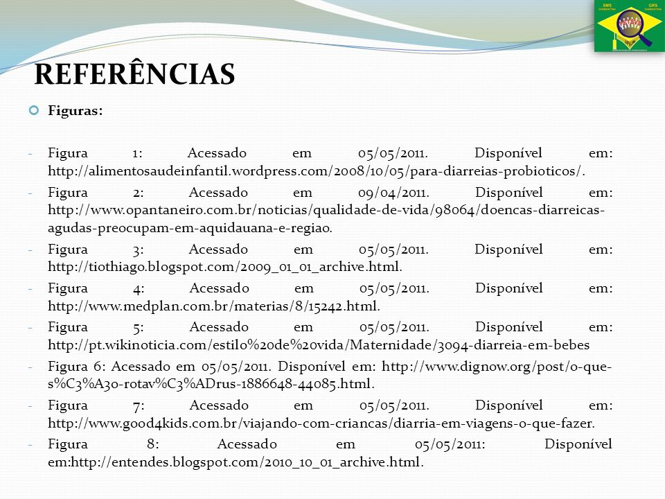 REFERÊNCIASFiguras: