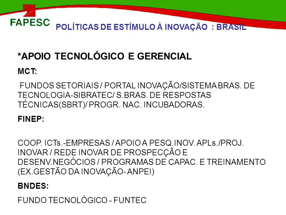 *APOIO TECNOLÓGICO E GERENCIAL