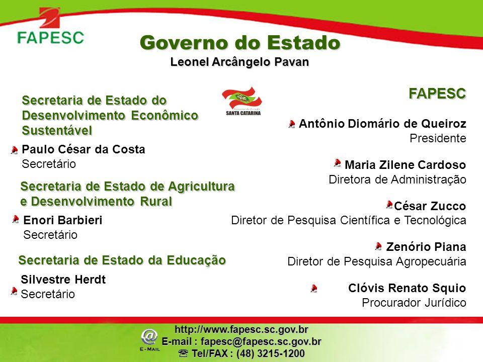 Governo do Estado Leonel Arcângelo Pavan