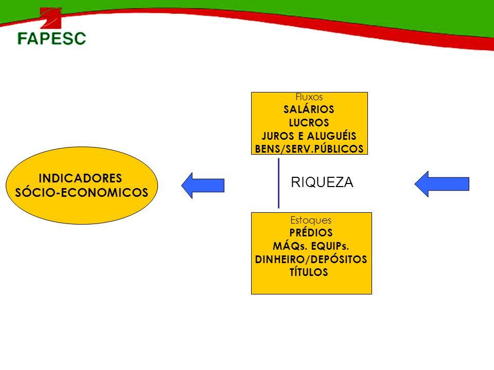 RIQUEZA INDICADORES SÓCIO-ECONOMICOS SALÁRIOS LUCROS JUROS E ALUGUÉIS