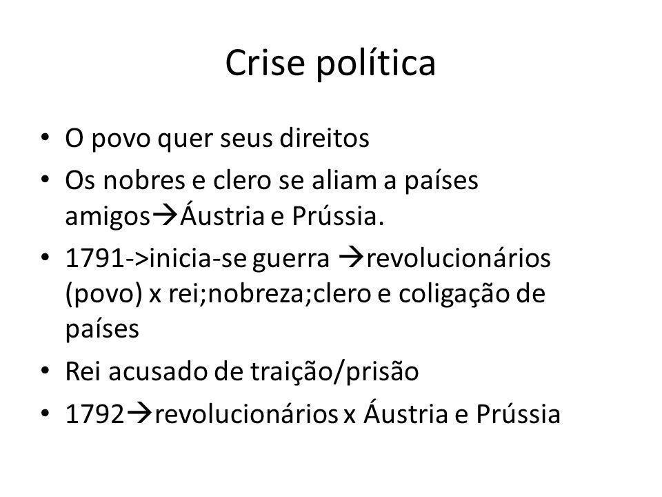 Crise política O povo quer seus direitos