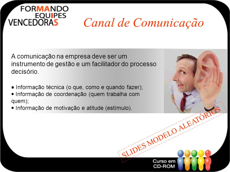Canal de Comunicação SLIDES MODELO ALEATÓRIOS