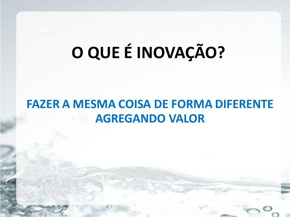 FAZER A MESMA COISA DE FORMA DIFERENTE AGREGANDO VALOR