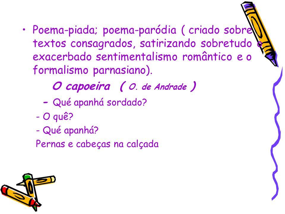 O capoeira ( O. de Andrade ) - Qué apanhá sordado