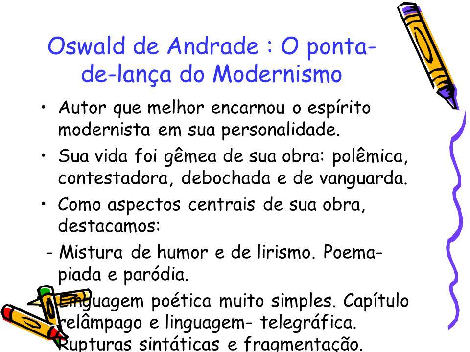 Oswald de Andrade : O ponta-de-lança do Modernismo