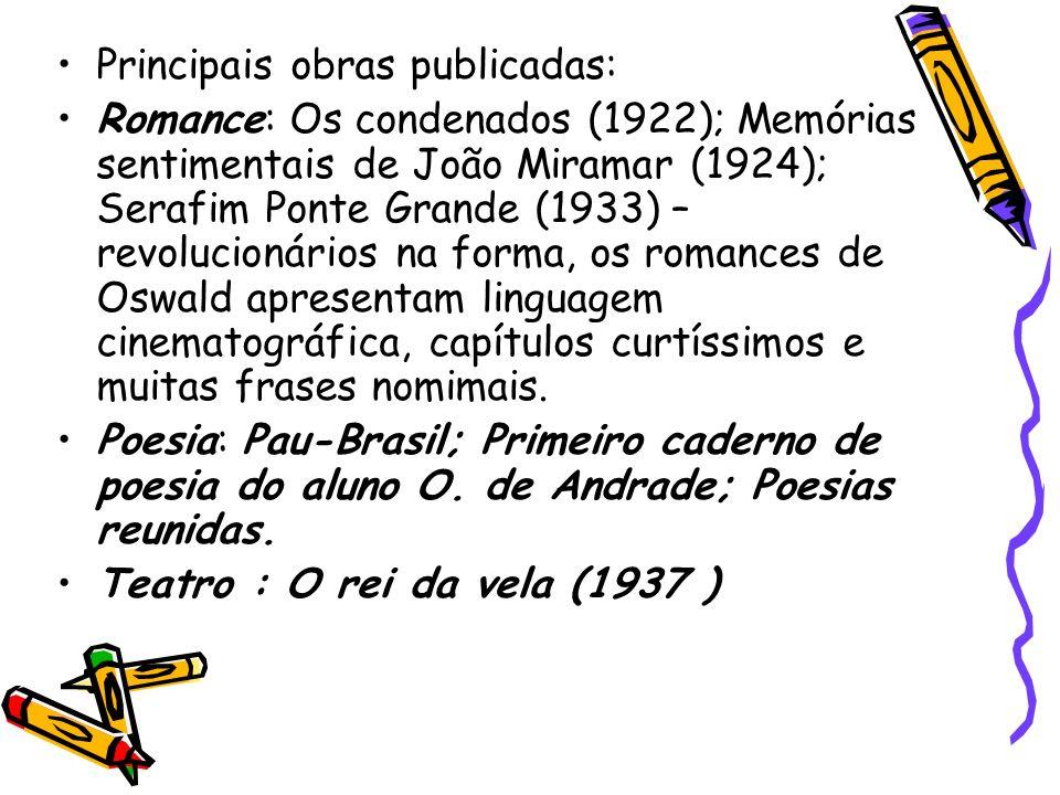 Principais obras publicadas: