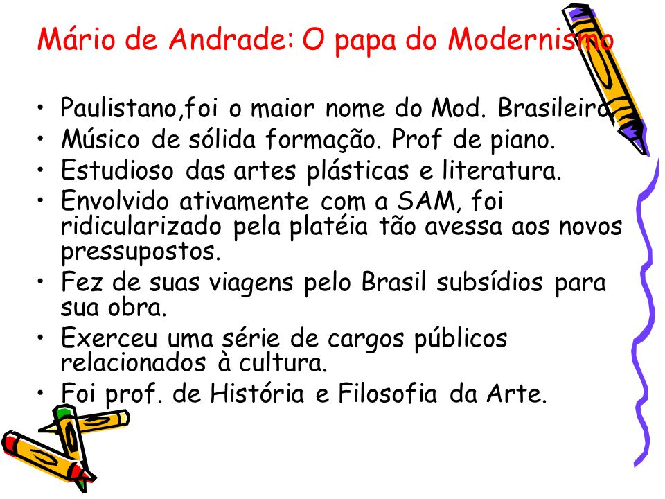 Paulistano,foi o maior nome do Mod. Brasileiro.