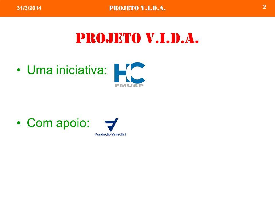26/03/2017 Projeto v.i.d.a. Uma iniciativa: Com apoio: