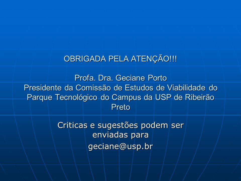 Criticas e sugestões podem ser enviadas para geciane@usp.br