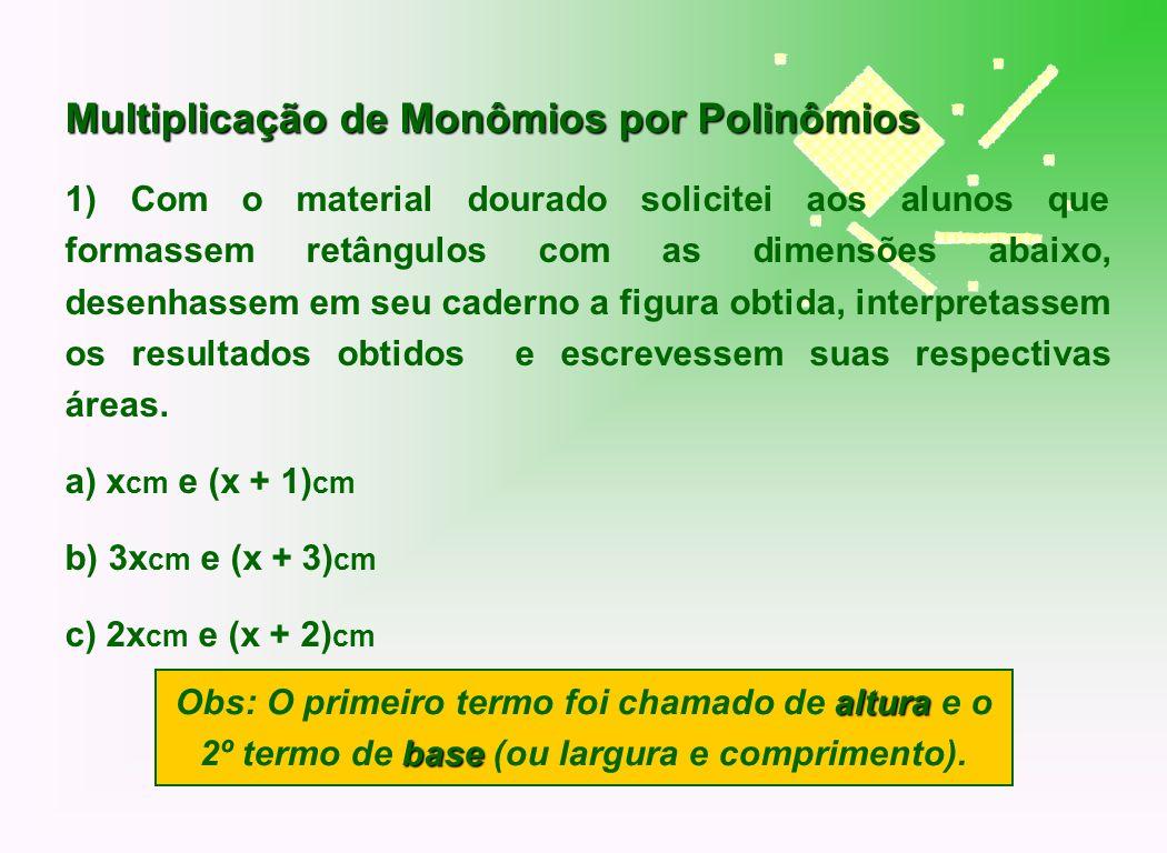 Multiplicação de Monômios por Polinômios