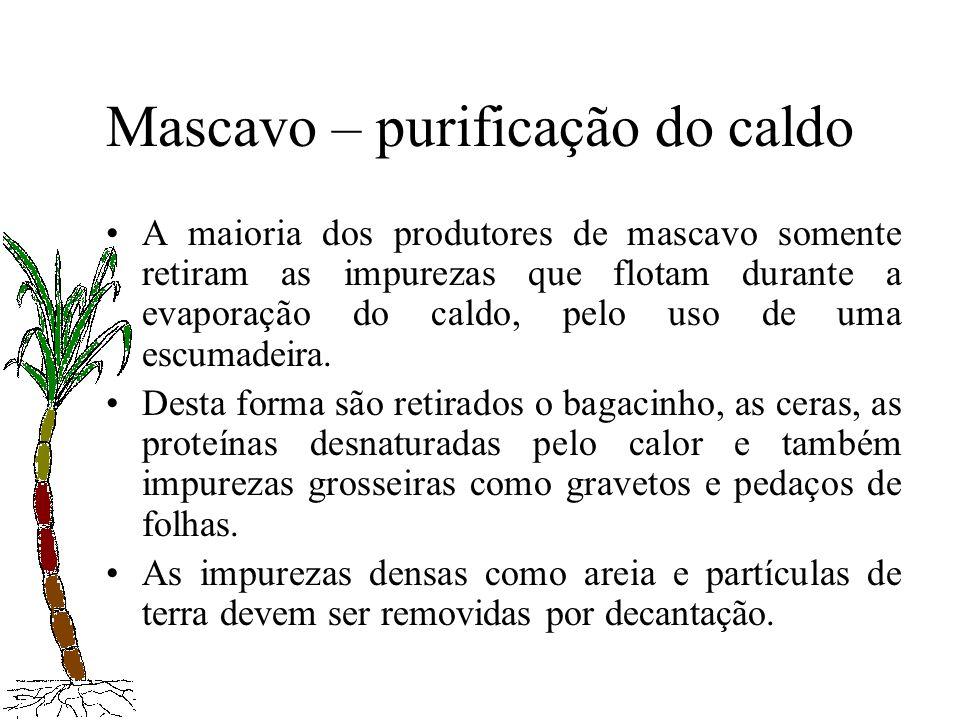 Mascavo – purificação do caldo