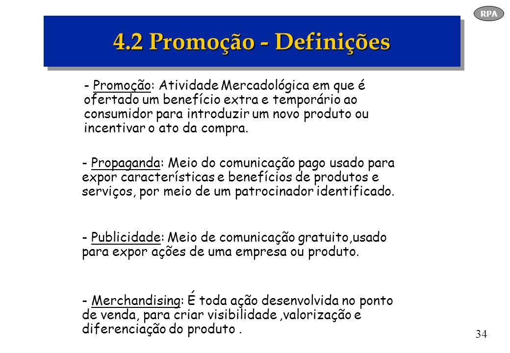 RPA 4.2 Promoção - Definições.