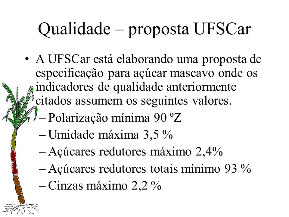 Qualidade – proposta UFSCar