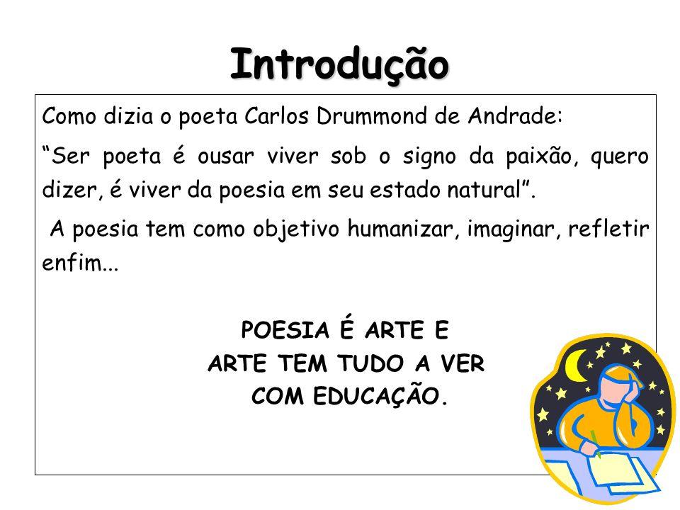 Introdução Como dizia o poeta Carlos Drummond de Andrade:
