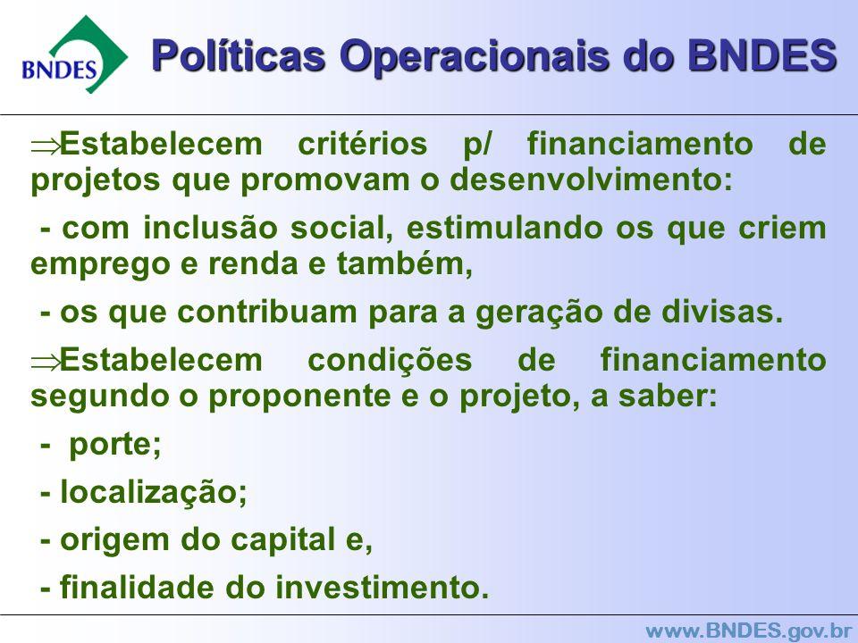 Políticas Operacionais do BNDES