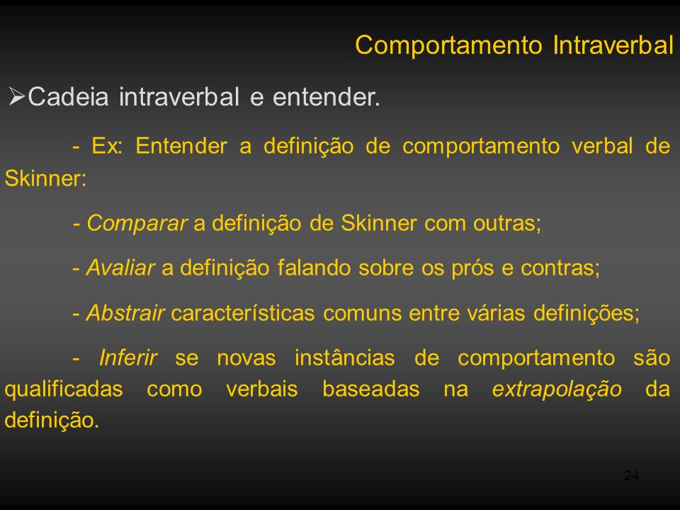 Comportamento Intraverbal