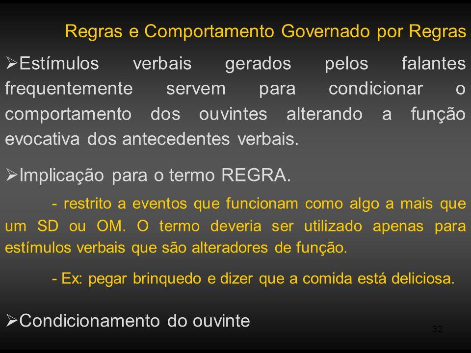Regras e Comportamento Governado por Regras