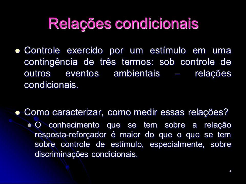 Relações condicionais