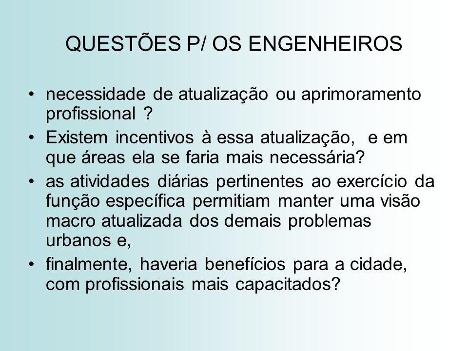 QUESTÕES P/ OS ENGENHEIROS