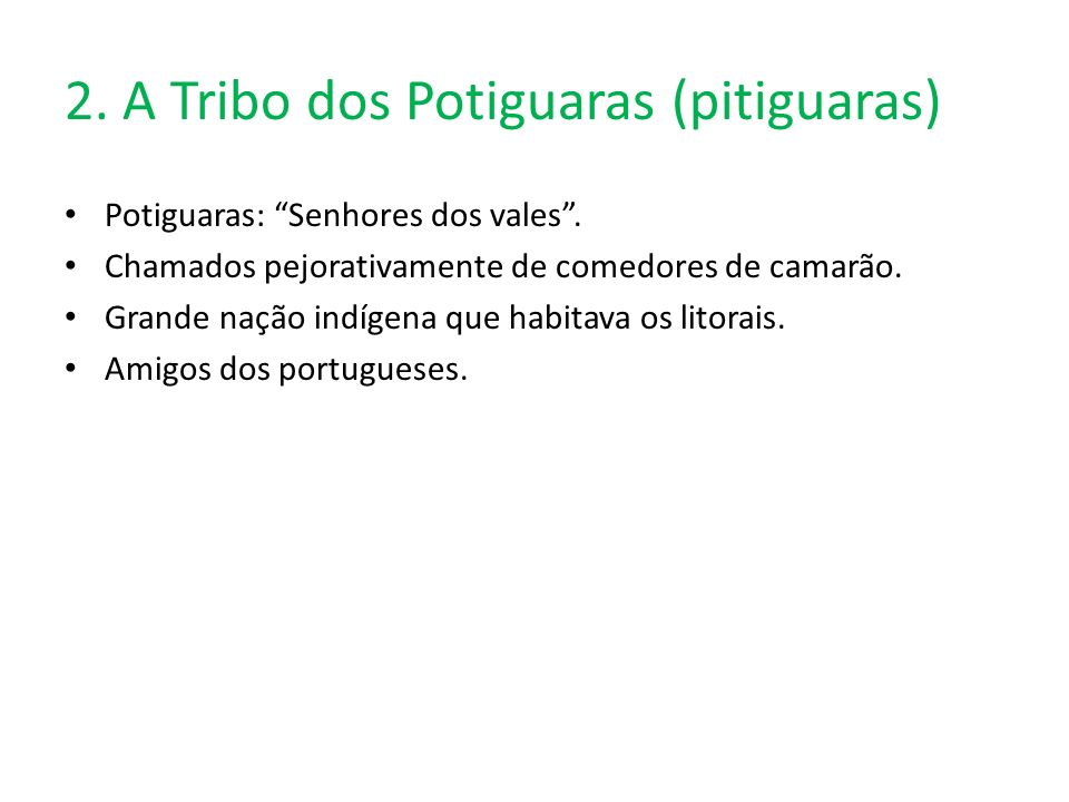 2. A Tribo dos Potiguaras (pitiguaras)