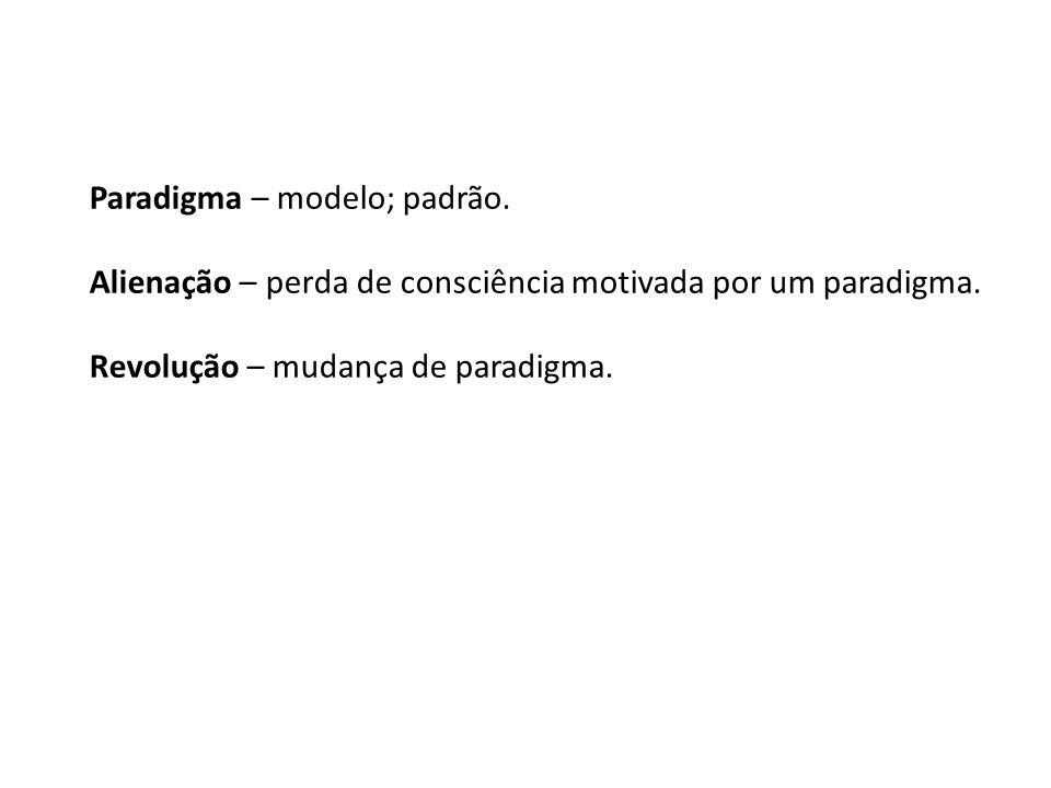 Paradigma – modelo; padrão.