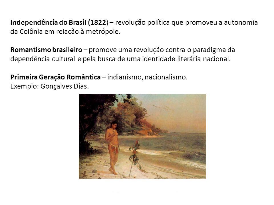 Independência do Brasil (1822) – revolução política que promoveu a autonomia da Colônia em relação à metrópole.