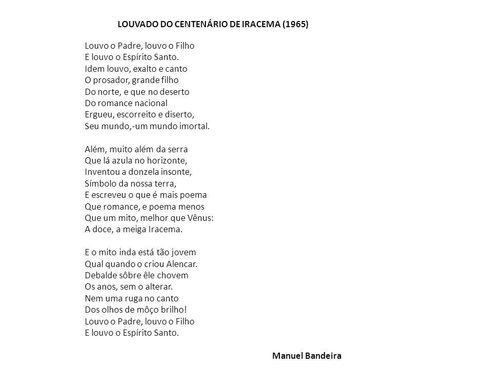 LOUVADO DO CENTENÁRIO DE IRACEMA (1965)