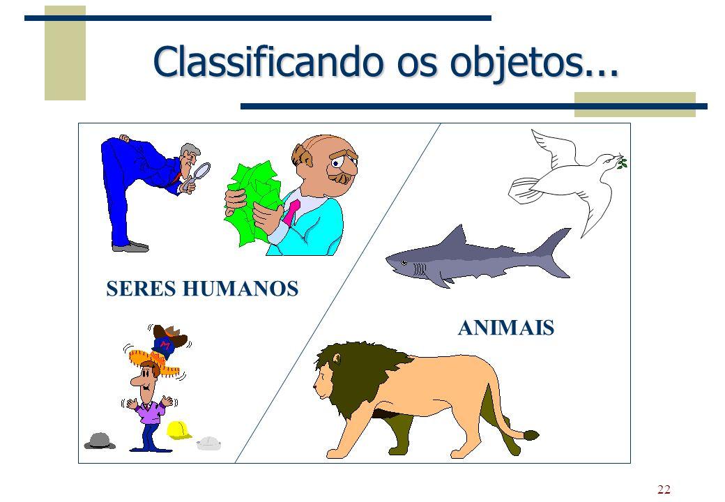 Classificando os objetos...