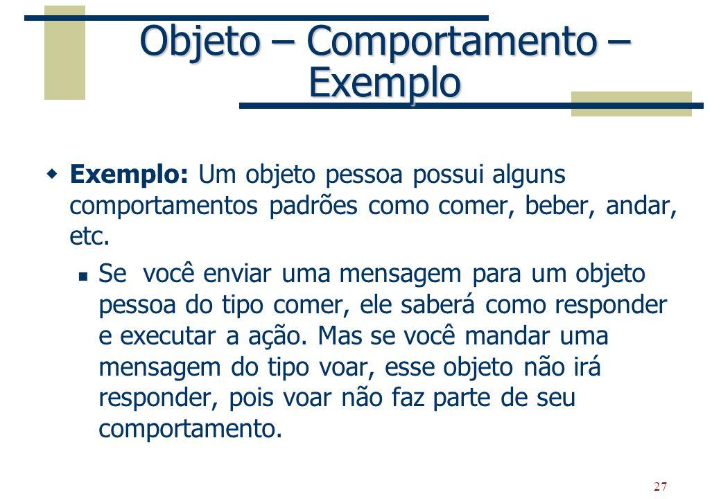 Objeto – Comportamento – Exemplo