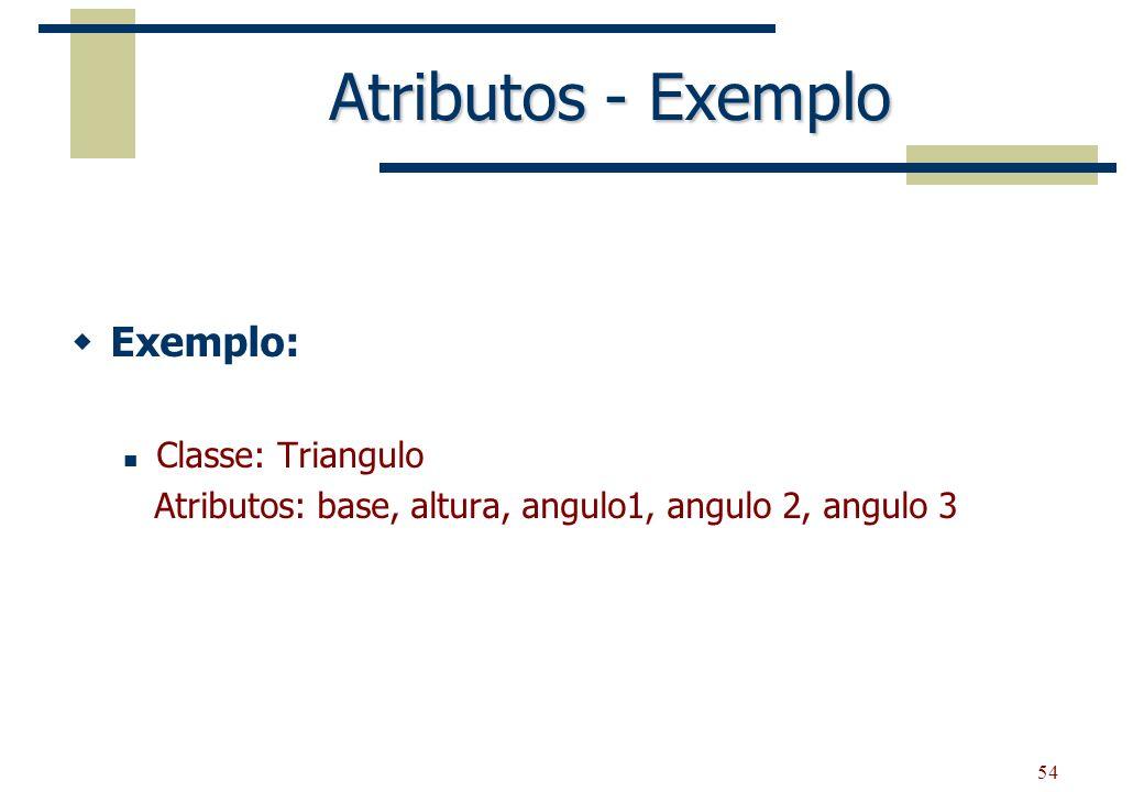 Atributos - Exemplo Exemplo: Classe: Triangulo